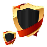 Shield & Ribbon Royalty Free Stock Image