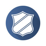 Shield with ribbon badge Royalty Free Stock Images