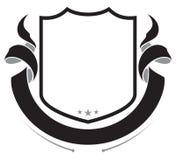 Shield and Ribbon. Banner. Heraldic design element Royalty Free Stock Photo