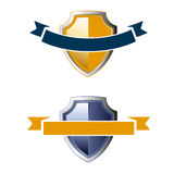 Shield ribbon icons Stock Photo