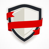 Shield with ribbon Stock Photos