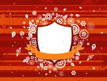 Shield and  ribbon, vector Royalty Free Stock Image