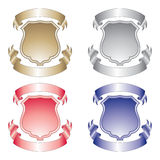 Shield and Ribbons Royalty Free Stock Images