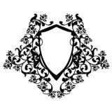 Shield among roses design Royalty Free Stock Image
