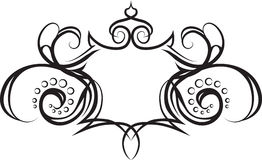 Shield scroll frame background Royalty Free Stock Images