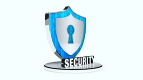 Shield security stock footage
