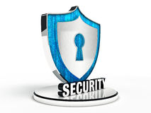Shield security. Design made in 3D Royalty Free Stock Photography