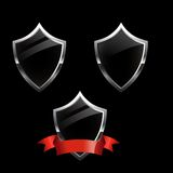 Shield security icons Stock Images