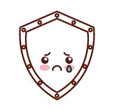 Shield security kawaii character Stock Photo