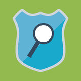 Shield and security system design Royalty Free Stock Photo