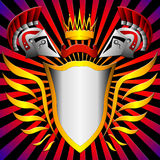 Shield send and corona Stock Image