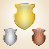 Shield set Royalty Free Stock Photo
