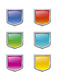 Shield set. A set of colored shield emblems Royalty Free Stock Image
