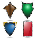 Shield set. Isolated on white Stock Photos