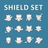 Shield set Stock Photo