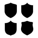 Shield shape. S set on white background Royalty Free Stock Photography