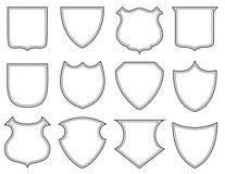 Shield shapes Stock Photo
