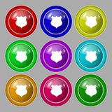 Shield sign icon. Protection symbol. Set colourful Stock Photo