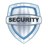 Shield and sign security Royalty Free Stock Photos
