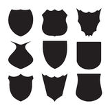 Shield silhouette Royalty Free Stock Photography