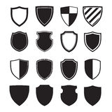 Shield silhouettes Royalty Free Stock Images