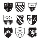 Shield silhouettes Stock Image