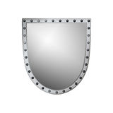 Shield silver gray icon shape emblem Royalty Free Stock Image