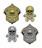Shield with skull and bones vector eps8 Stock Image