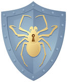 Shield with the Spider Royalty Free Stock Image