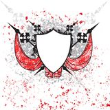 Shield with Splatter Royalty Free Stock Photo