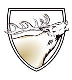 Shield with stag Stock Photography