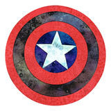 Shield with a Star Royalty Free Stock Photography