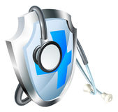 Shield and Stethoscope Medical Concept Royalty Free Stock Images
