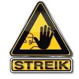Shield hand and strike royalty free stock photos