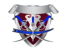 Shield and sword. Royalty Free Stock Images