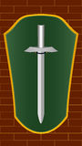 Shield and sword Royalty Free Stock Photo