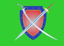 Shield and sword Royalty Free Stock Images