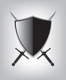 Shield and sword Stock Photo