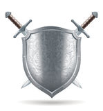 Shield and sword illustration  Stock Images