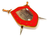 Shield with Sword. Security Royalty Free Stock Photo