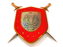 Shield with Sword. Security Stock Photos