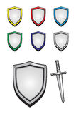 Shield and sword Stock Images