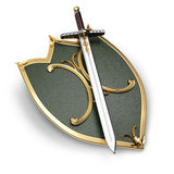 Shield and sword Royalty Free Stock Photos