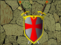 Shield and swords Royalty Free Stock Image