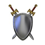 Shield and swords Royalty Free Stock Images