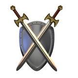 Shield and swords Stock Photography