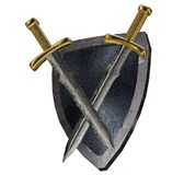 Shield and swords. Royalty Free Stock Images