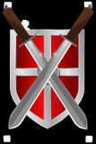 Shield, Swords, Knight, Medieval Stock Photos