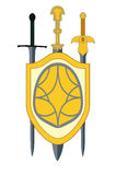 Shield and Swords. Stock Images