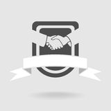 Shield Symbol Handshake Stock Images